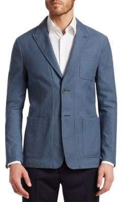 Giorgio Armani Men's Ice Patch Jacket - Blue - Size 54 (44)