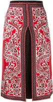 Alexander McQueen slit paisley skirt
