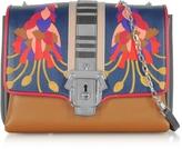 Paula Cademartori Alice Leather and Suede Shoulder Bag w/Chain