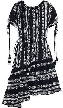 Dodo Bar Or Lattice-trimmed Gingham Cotton-jacquard Dress