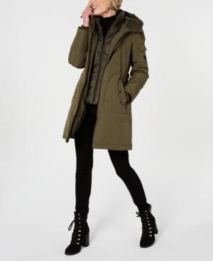 1 Madison Fox-Fur-Trim Hooded Parka