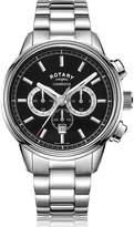 Rotary Watches Rotary Mens Silver Cambridge Watch With Black Dial