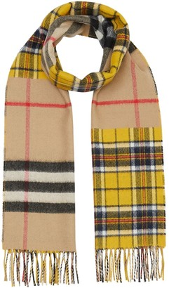 Burberry patchwork Vintage Check scarf