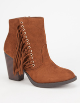 Soda Sunglasses Dimple Womens Fringe Booties