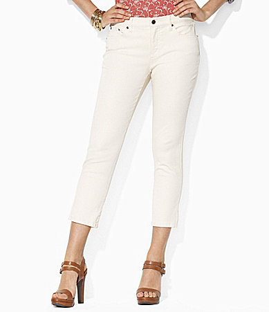 Lauren Ralph Lauren Petites Straight Cropped Jeans