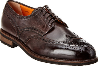 Santoni Leather Wingtip Oxford