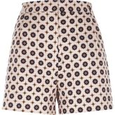 River Island Womens Pink geo print high waisted shorts