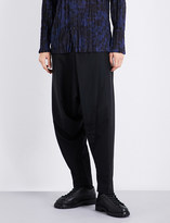 Issey Miyake Dropped-crotch regular-fit wool-twill trousers
