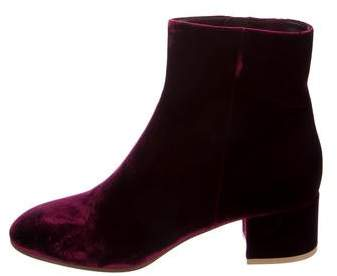 Gianvito Rossi Rolling Velvet Ankle Boots w/ Tags