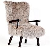 One Kings Lane Gunnnison Shearling Chair, Silver