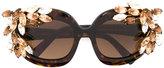 DSQUARED2 'Ophelia' sunglasses - women - Acetate/Swarovski Crystal - One Size