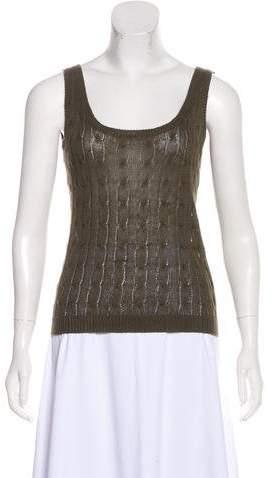 Ralph Lauren Black Label Sleeveless Cable Knit Top