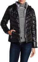 Kenneth Cole New York Puff Front Zip Hooded Jacket