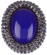 Kenneth Jay Lane Pave Oval Stone Ring
