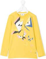 Fendi geometric butterfly print T-shirt