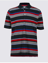 Blue Harbour Big & Tall Pure Cotton Striped Polo Shirt