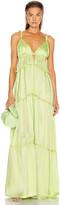 Jonathan Simkhai Jade Charmeuse Dress in Pear | FWRD