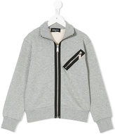 DSQUARED2 contrast zip sweatshirt - kids - Cotton - 10 yrs