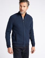 Marks and Spencer Cotton Rich Zipped Through Cardigan