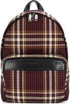 Bally tartan backpack - unisex - Leather/Polyester - One Size
