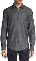 HUGO BOSS Slim-Fit Plaid Shirt
