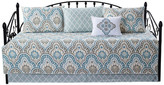 """Serenta Tivoli IKAT 6 Piece Quilted Daybed Set, Teal, 75"""" X 39"""""""