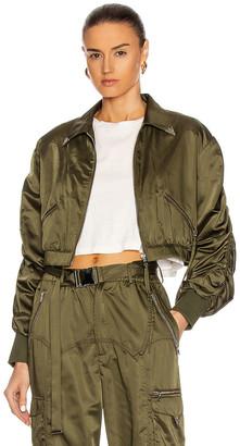 retrofete Mia Bomber Jacket in Army Green | FWRD