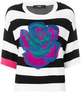 Diesel rose striped T-shirt