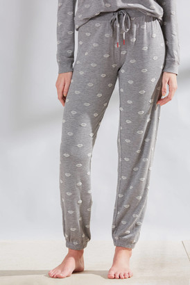 PJ Salvage Amour Love Lips Jogger Grey XS
