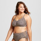 Xhilaration Women's Plus Size Lace Up Back Bralette