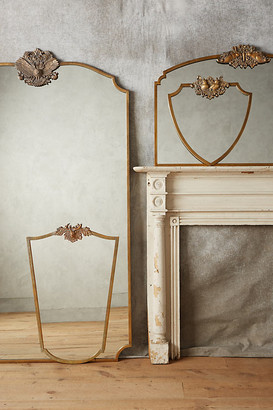 Anthropologie Wooded Manor Mirror By in Brown Size S