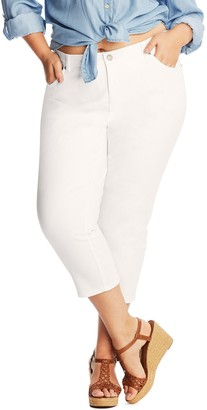 Just My Size Women's Plus Cropped Jeans