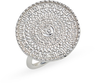 Sterling Forever Medallion Statement Ring