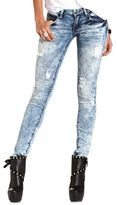 Charlotte Russe Machine Jeans Destroyed Acid Wash Skinny