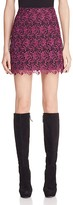Alice + Olivia Riley Floral Lace Mini Skirt