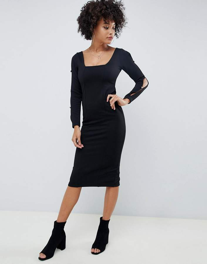 f857d8b8431 Side Split Dress Gold - ShopStyle UK
