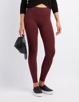 Charlotte Russe High-Waist Stretch Cotton Leggings