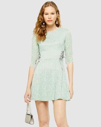 Topshop Lace Mini Dress