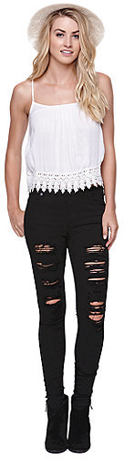 Kylie Minogue Kendall & Kylie High Rise Skinniest Jeans