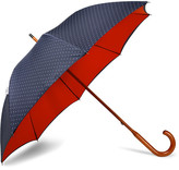 London Undercover Polka-Dot Maple Wood-Handle Umbrella