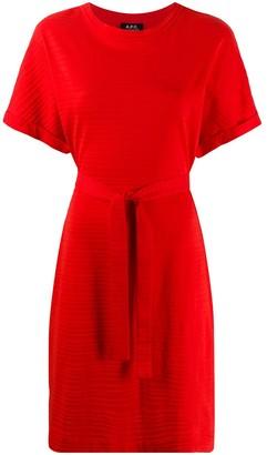 A.P.C. tie-waist T-shirt dress