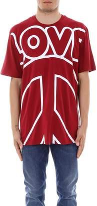 Love Moschino Oversized Logo Print Crewneck T-Shirt
