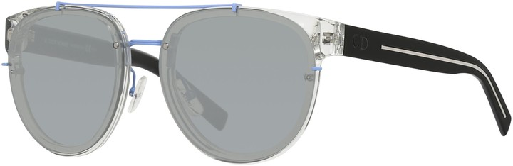 Christian Dior Blacktie143S Round Sunglasses, Black/Clear