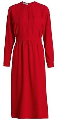 Prada Raso Keyhole Midi Dress