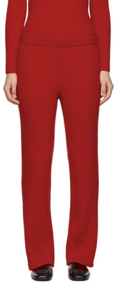 Balenciaga Red Wool and Cashmere Lounge Pants