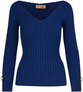 Coliac V-neck jumper with jewel details