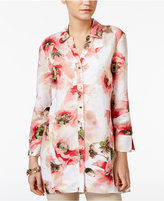 JM Collection Printed Oversized Shirt, Only at Macy's
