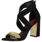 Dorothy Perkins Womens *London Rebel Suede effect block heel sandals- Black