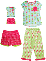 Dollie & Me Turquoise & Green Frog Pajama Set & Doll Outfit - Girls