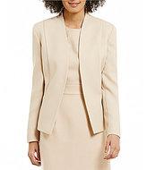 Preston & York Kari Textured Crepe Long Sleeve Jacket